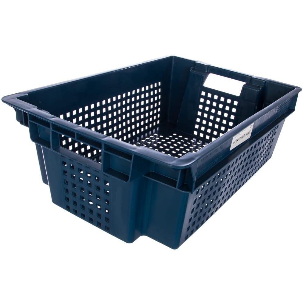 Купить Ящик п/э 600х400х200, синий, вес 1, 4 кг тара.ру 00341