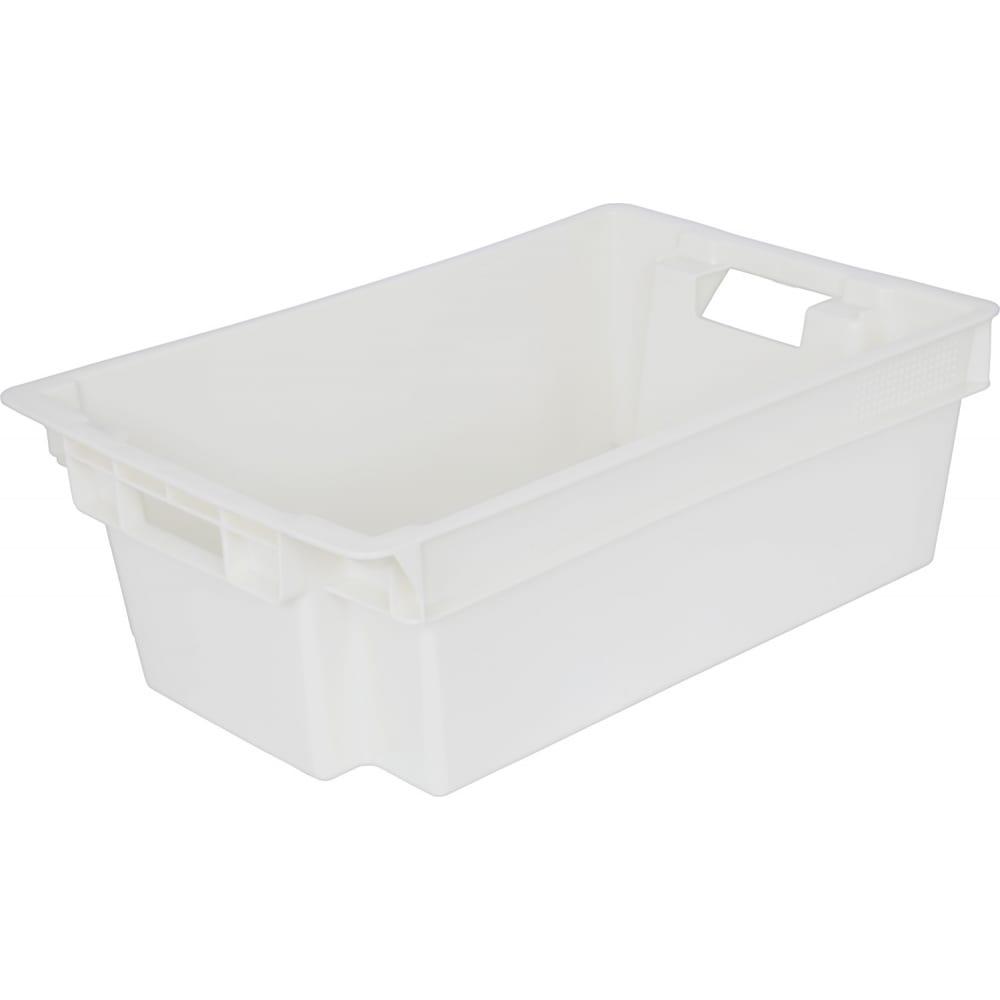 Мясной ящик, п/э сплошной 600х400х200 белый,