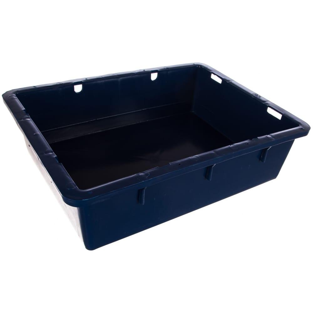 Сырково творожный ящик п/э 532х400х141 синий тара