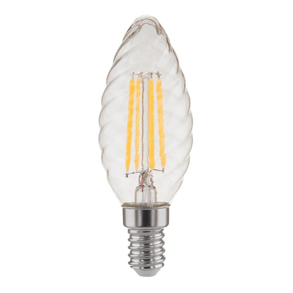 Купить Светодиодная лампа elektrostandard свеча витая f 7w 3300k e14 прозрачный bl128 a041017