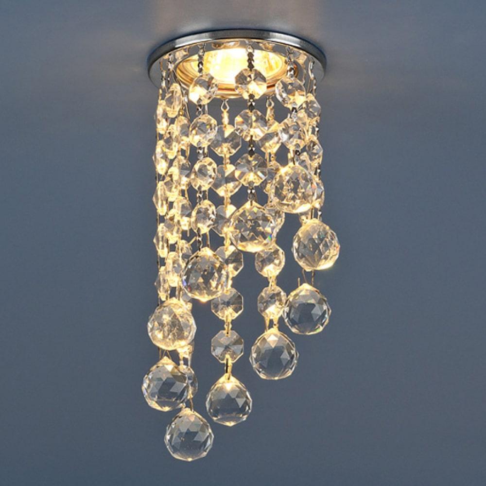 Купить Встраиваемый светильник elektrostandard 205c-c mr16 ch/cl хром/прозрачный a030715