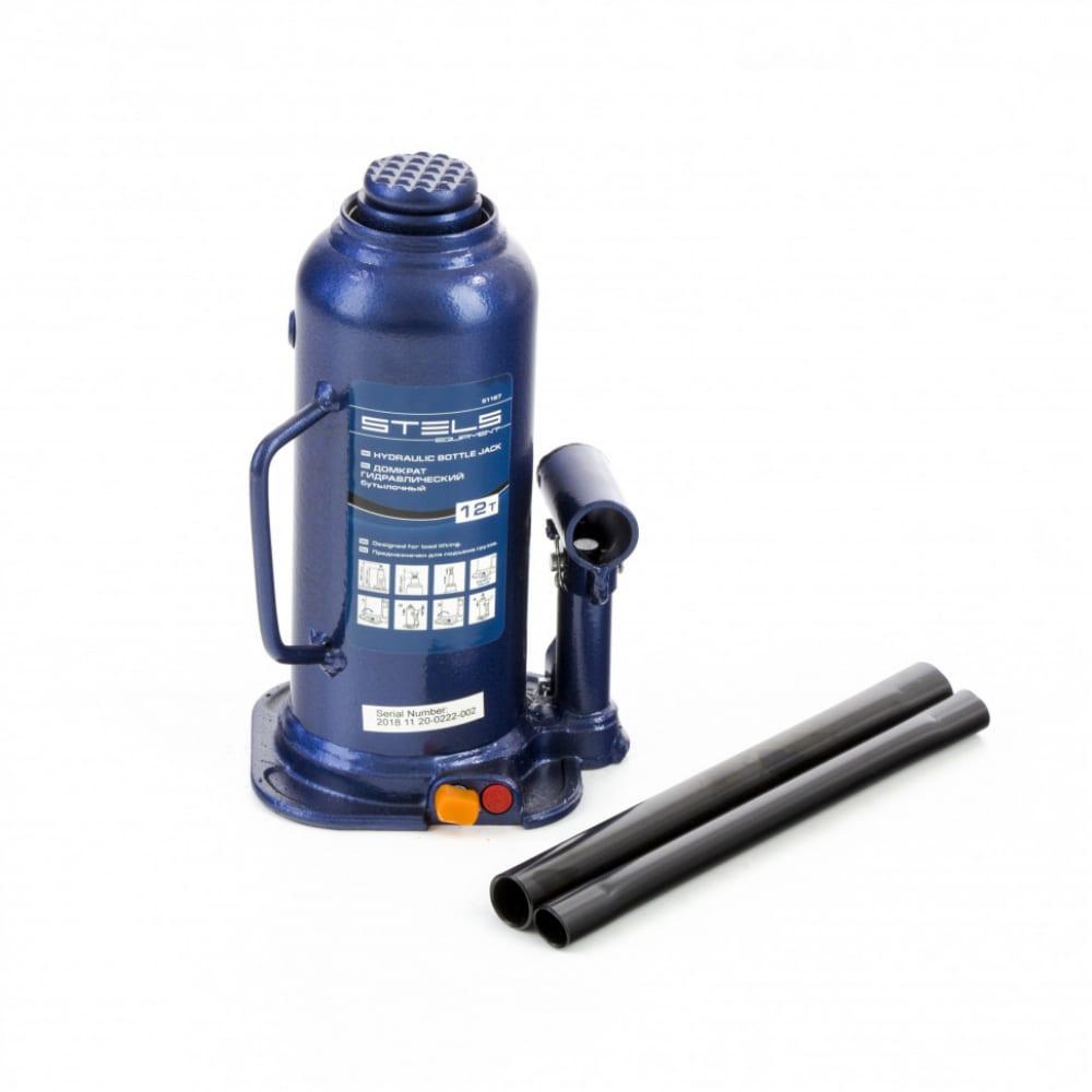 Купить Гидравлический бутылочный домкрат 12 т, h подъема 227–457 мм stels 51167
