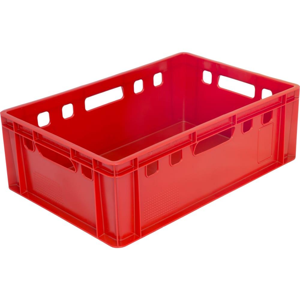 Купить Ящик п/э 600х400х200 сплошной, красный, с гладким дном тара.ру е2 15096