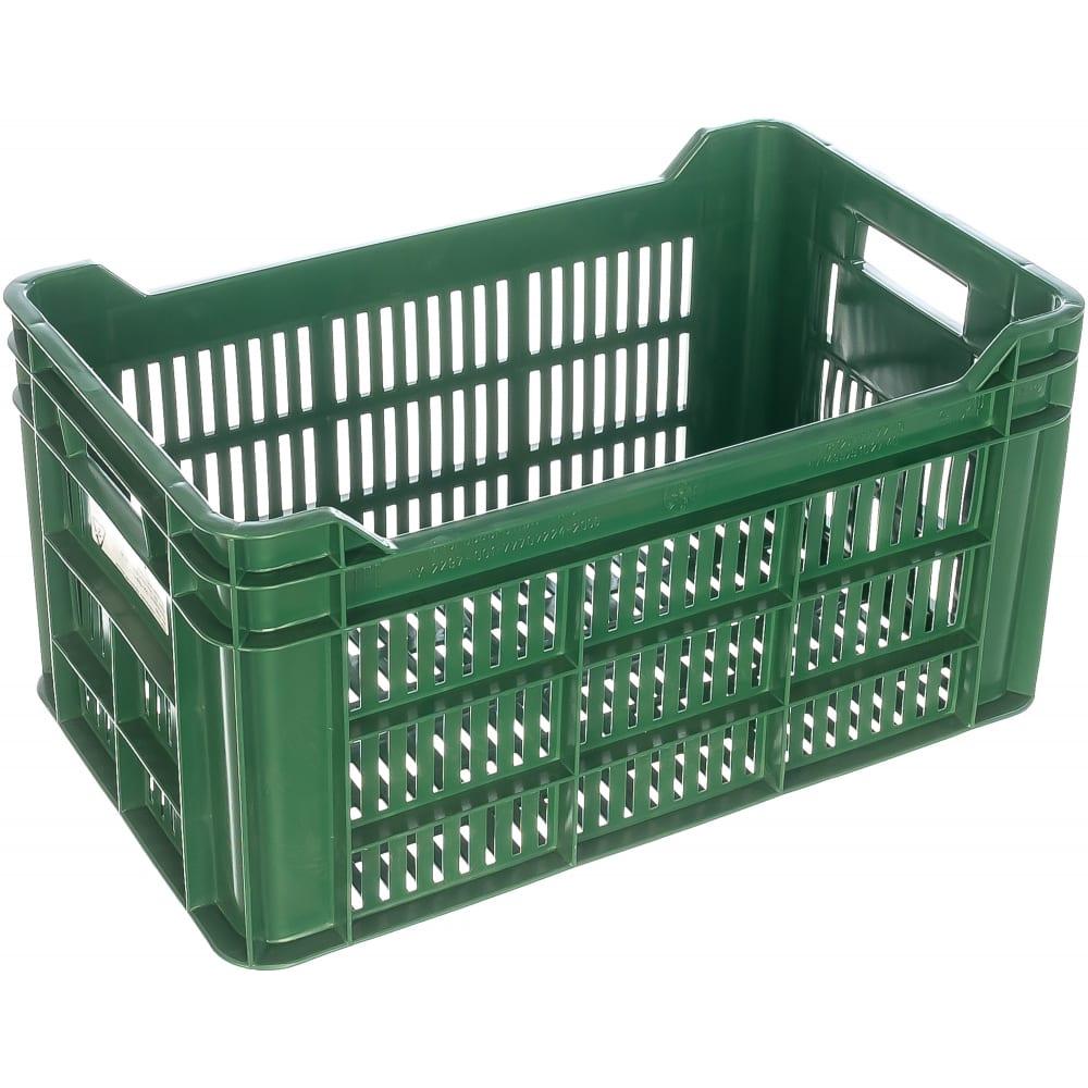Ящик п/э с перфорацией 500х300х264 зеленый тара