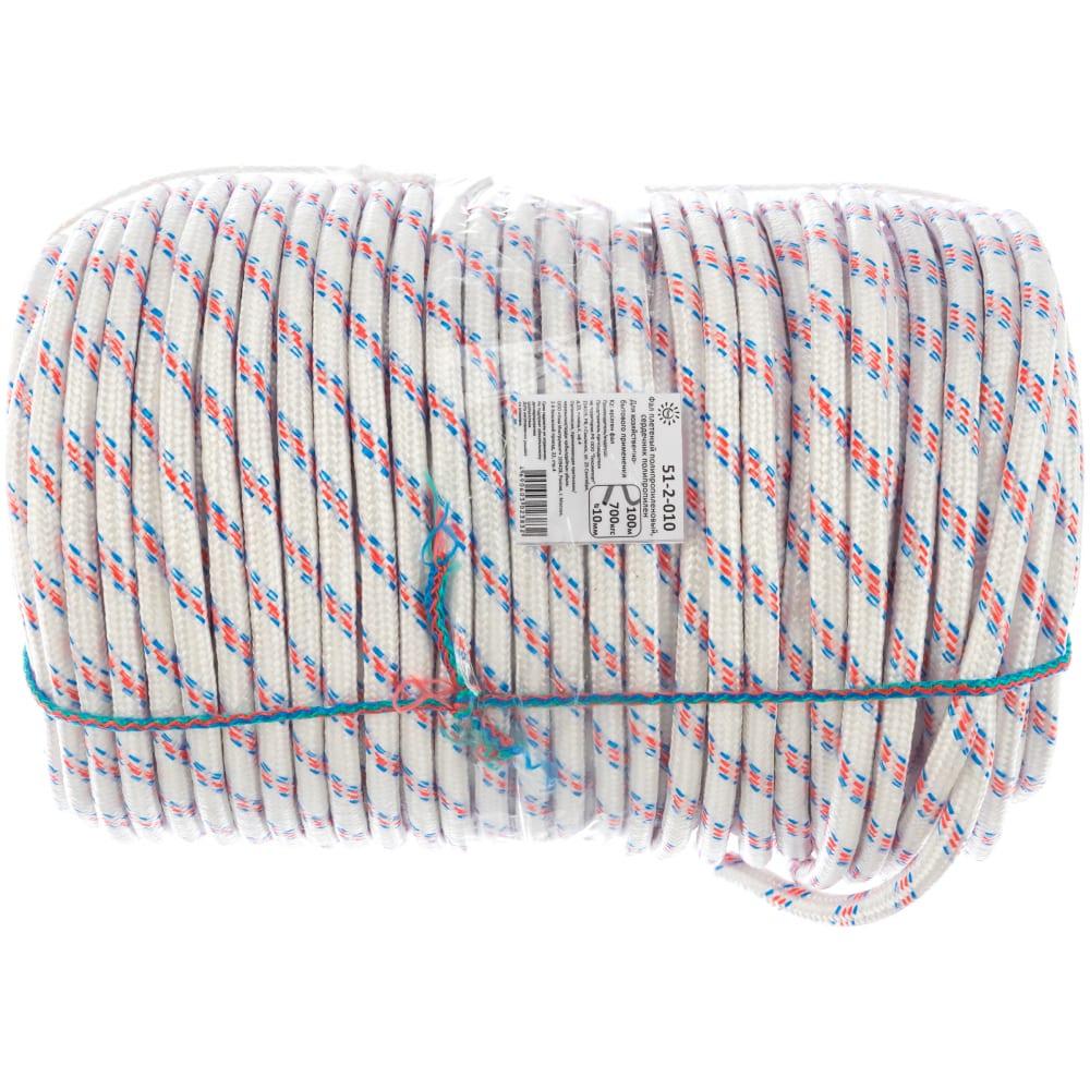 Купить Фал ремоколор плетеный полипр., d10мм, l 100м, 24-прядный, 700кгс 51-2-010