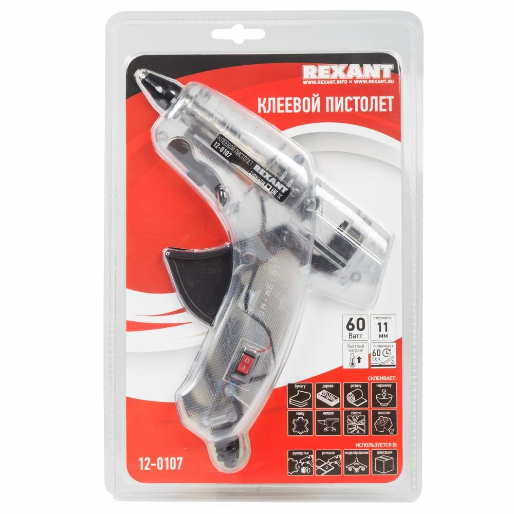 Клеевой пистолет rexant 60 вт 12-0107