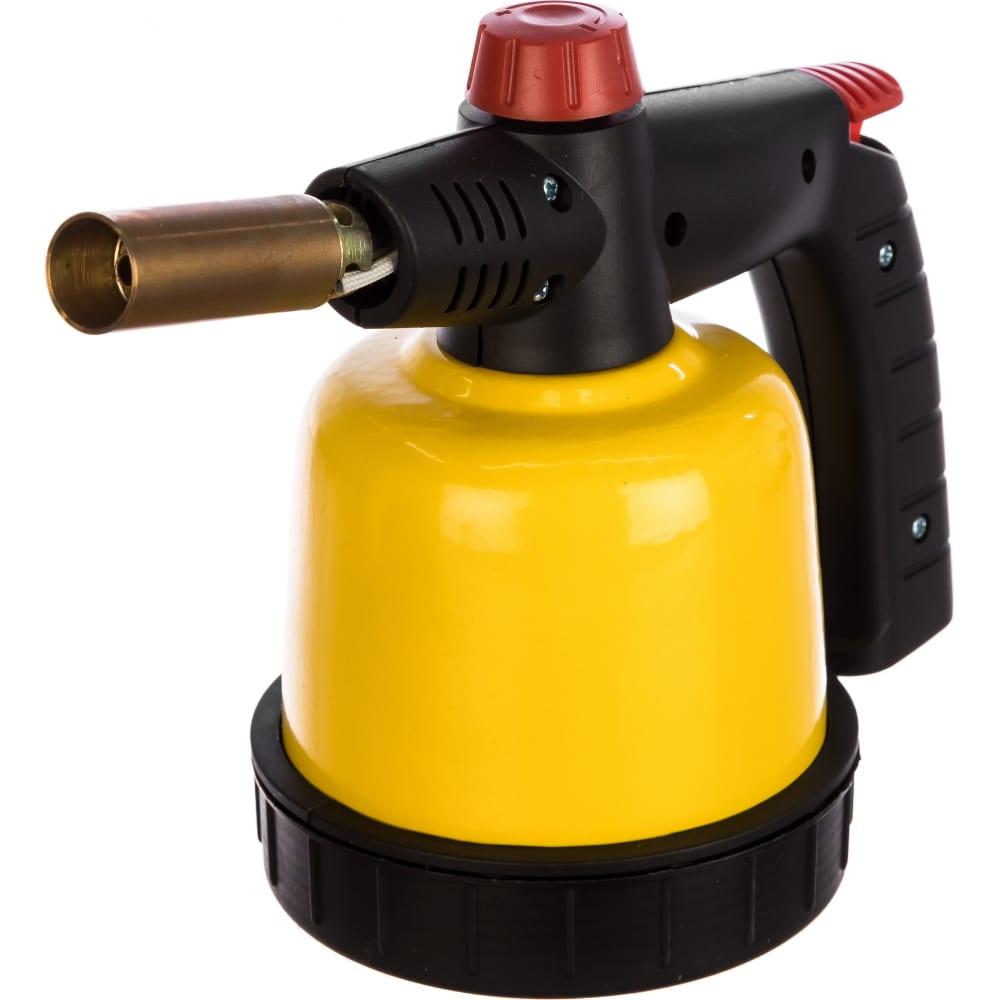 Газовая паяльная лампа stayer master, на баллон, с пьезоподжигом, регулировка пламени, 1850с 55590