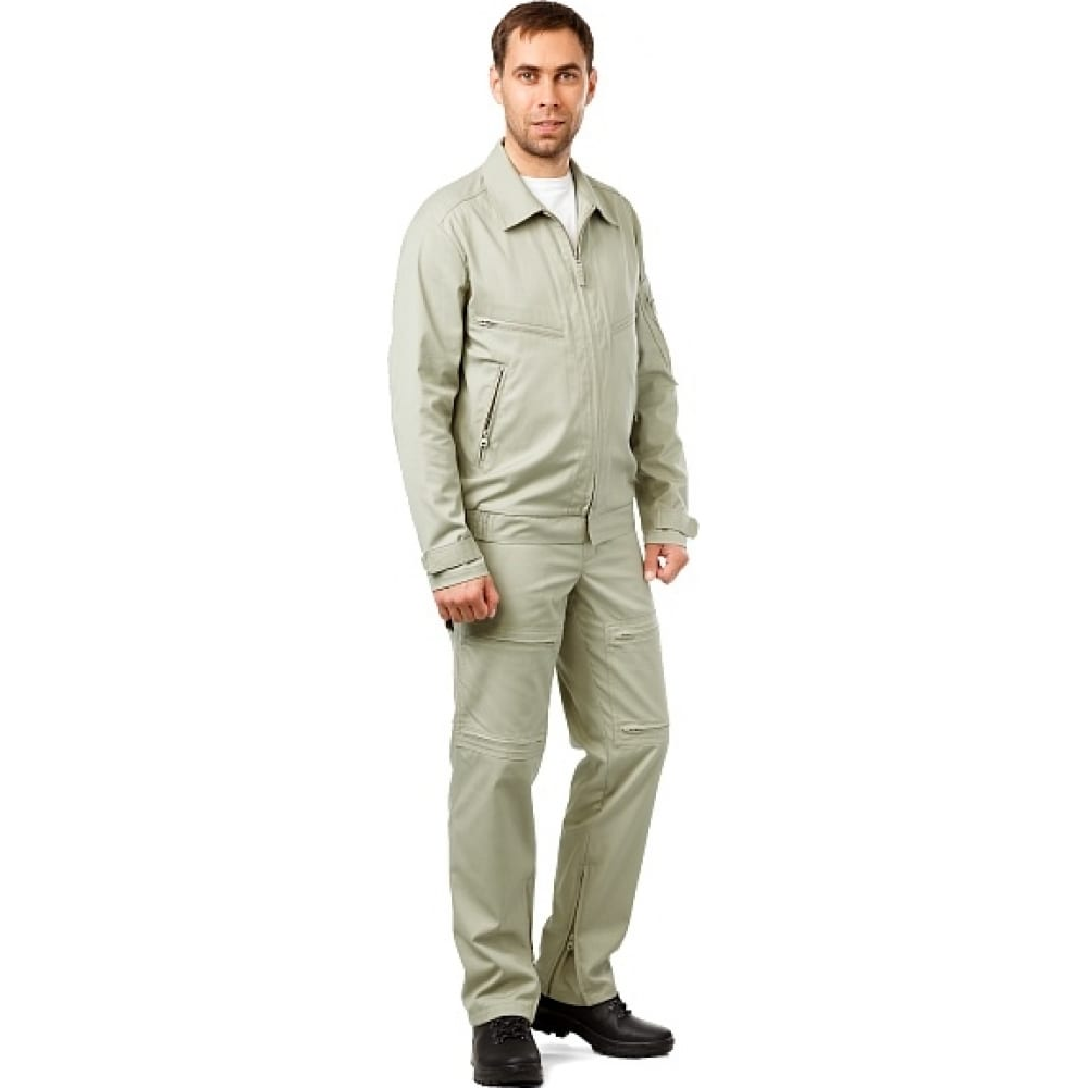 Мужская летняя куртка техноавиа пилот бежево-оливковая, размер 112, рост 182 3944x фото