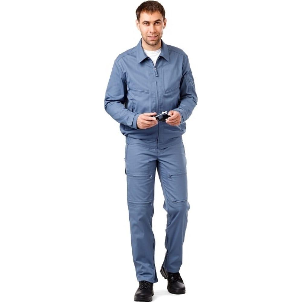 Мужская летняя куртка техноавиа пилот серо-синяя, размер 100, рост 176 3945j фото
