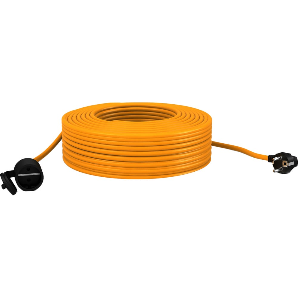 Удлинитель шнур партнер-электро gardenline с/з пвс 3х15 16a 20м ip 44 us106c-120or.