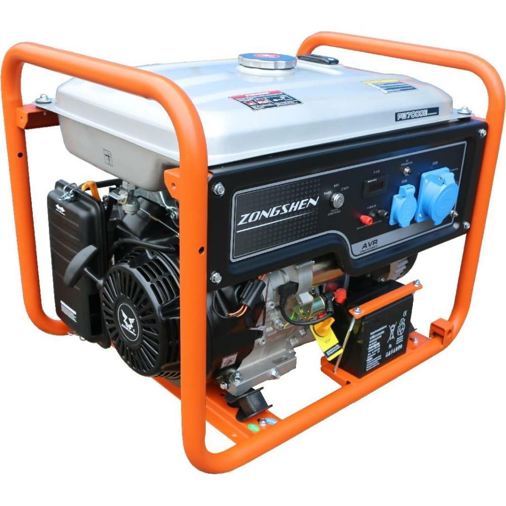 Бензиновый генератор zongshen pb 7000 e 1t90df706.
