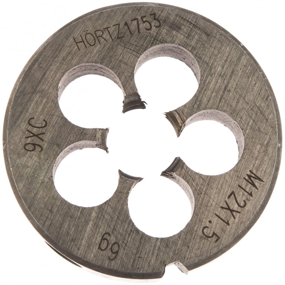 Плашка hortz м12x1.5 9хс 204023