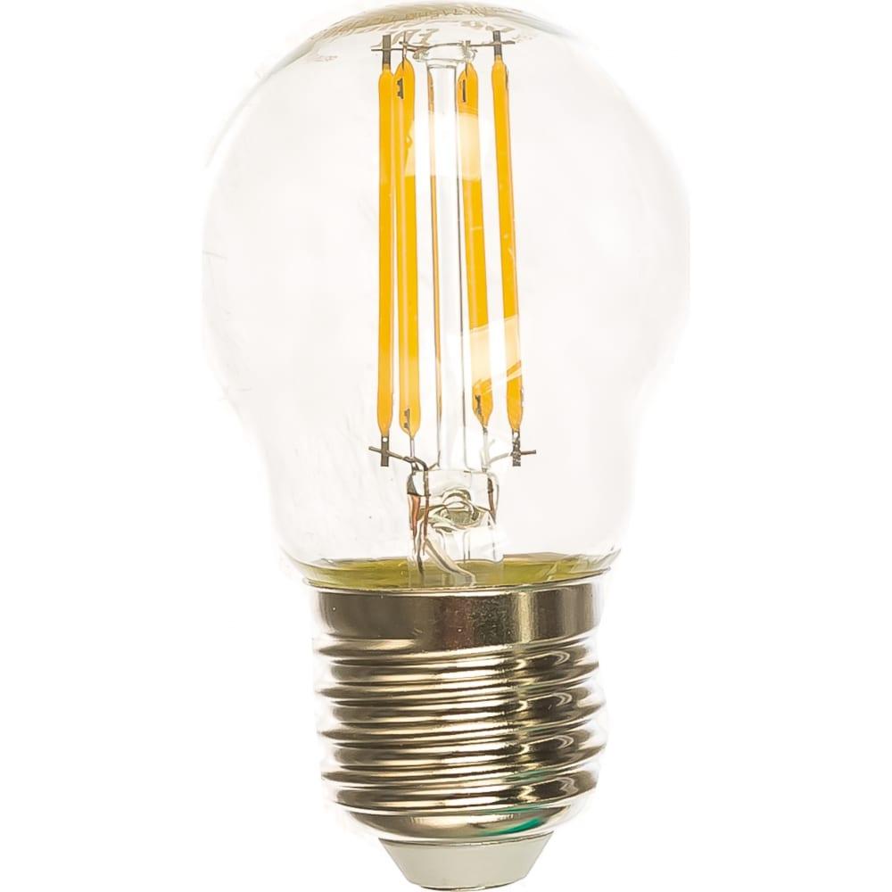 Светодиодная лампа camelion led7-g45-fl/830/e27 7вт 220в 13457