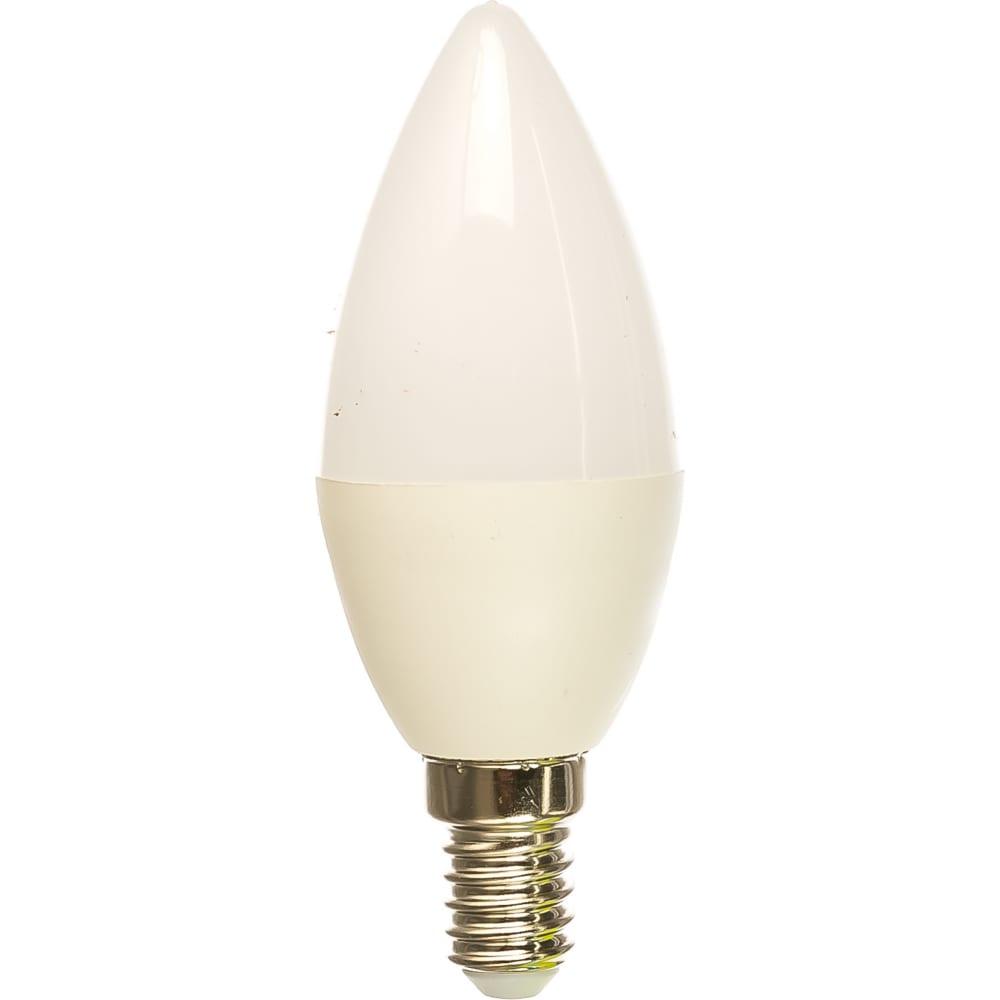 Электрическая светодиодная лампа ergolux led-c35-9w-e14-4k свеча 9вт e14 4500k 172-265в 13168  - купить со скидкой