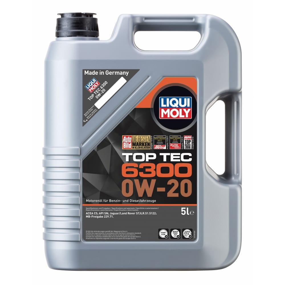 Купить Масло моторное нс-синтетическое top tec 6300 0w-20 sn c5, 5 л liqui moly 21217