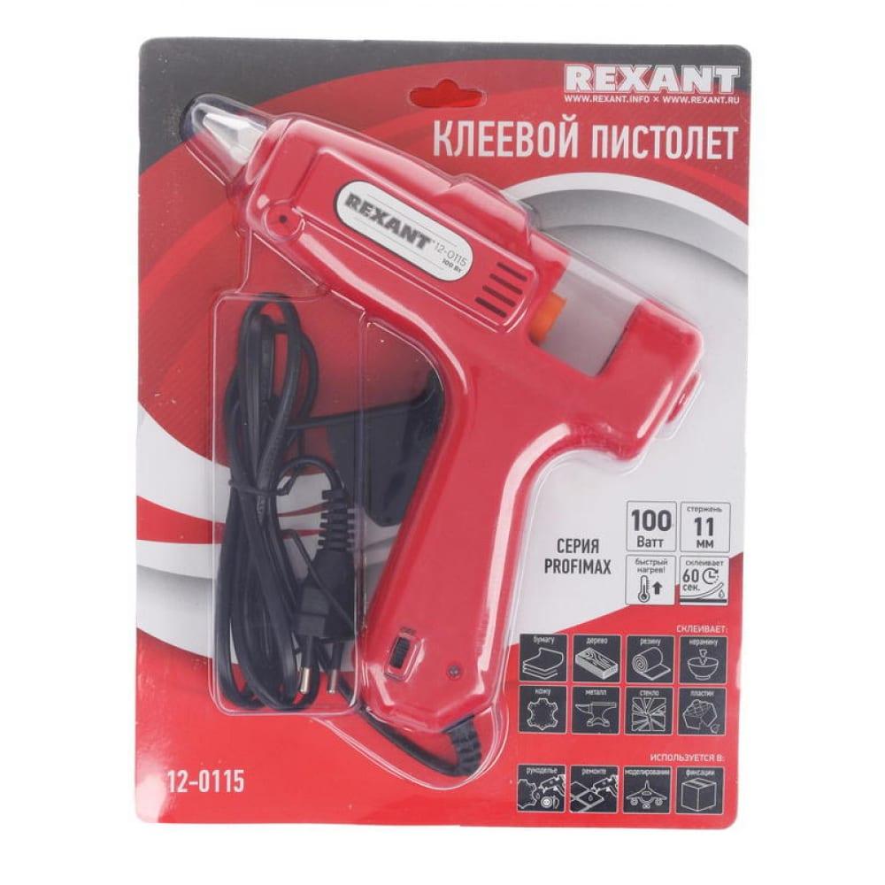 Клеевой пистолет rexant 100 вт 12-0115