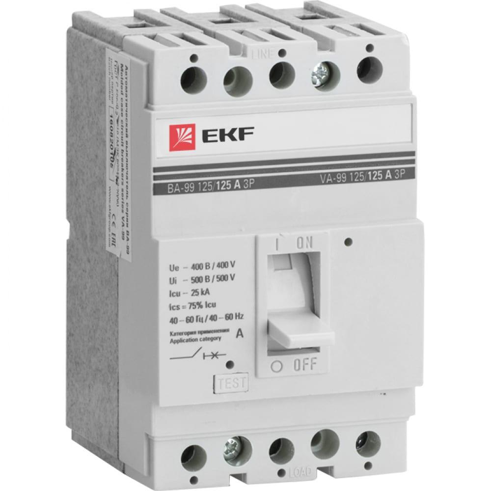 Автоматический трехполюсный выключатель ekf ва-99/125 16а 3ф 25ка рэ500а mccb99-125-16