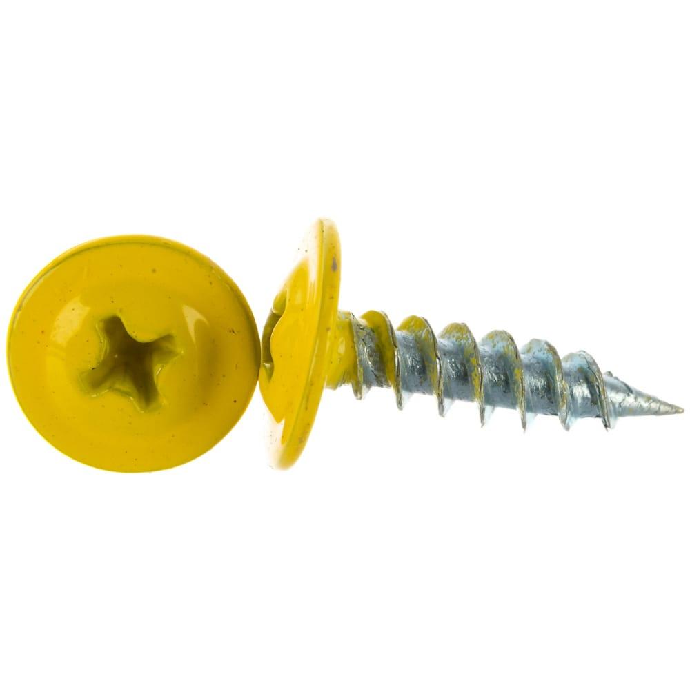 Купить Прессшайба качественный крепеж 4.2х16 мм, желтый цинк ral 1018, острый, 250 шт 0200285 кч