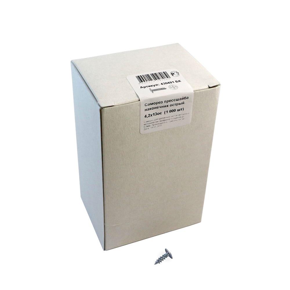 Купить Саморез прессшайба крепежная техника острая 4, 2х13, 1000 шт. 430401 бк