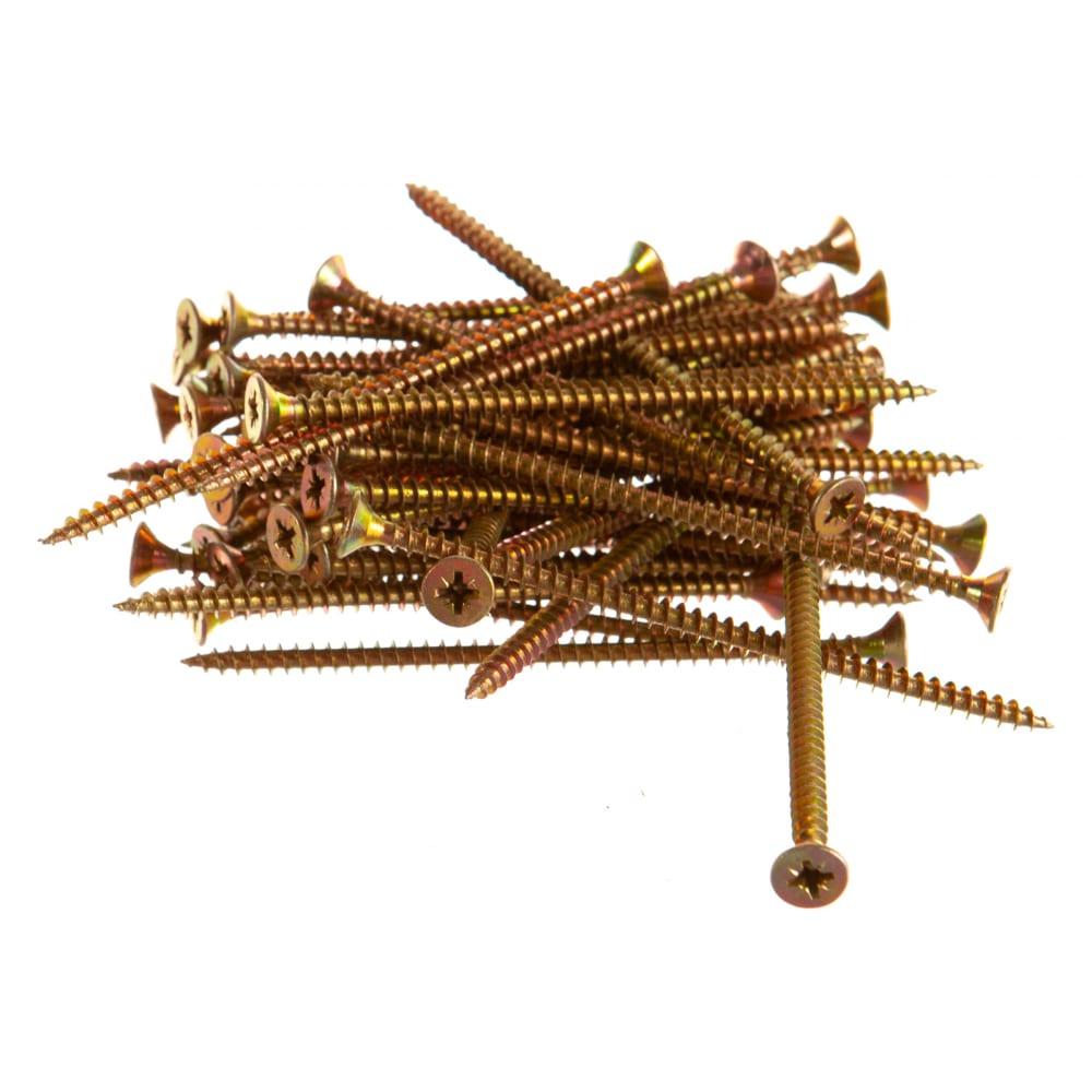 Купить Шуруп качественный крепеж желтый цинк 5, 0x100, 50 шт. 0300515 кч
