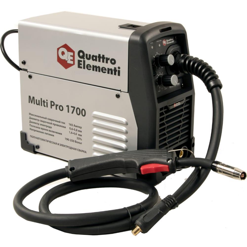 Аппарат полуавтоматической сварки инвертор multi pro 1700 165a quattro elementi 790-052.