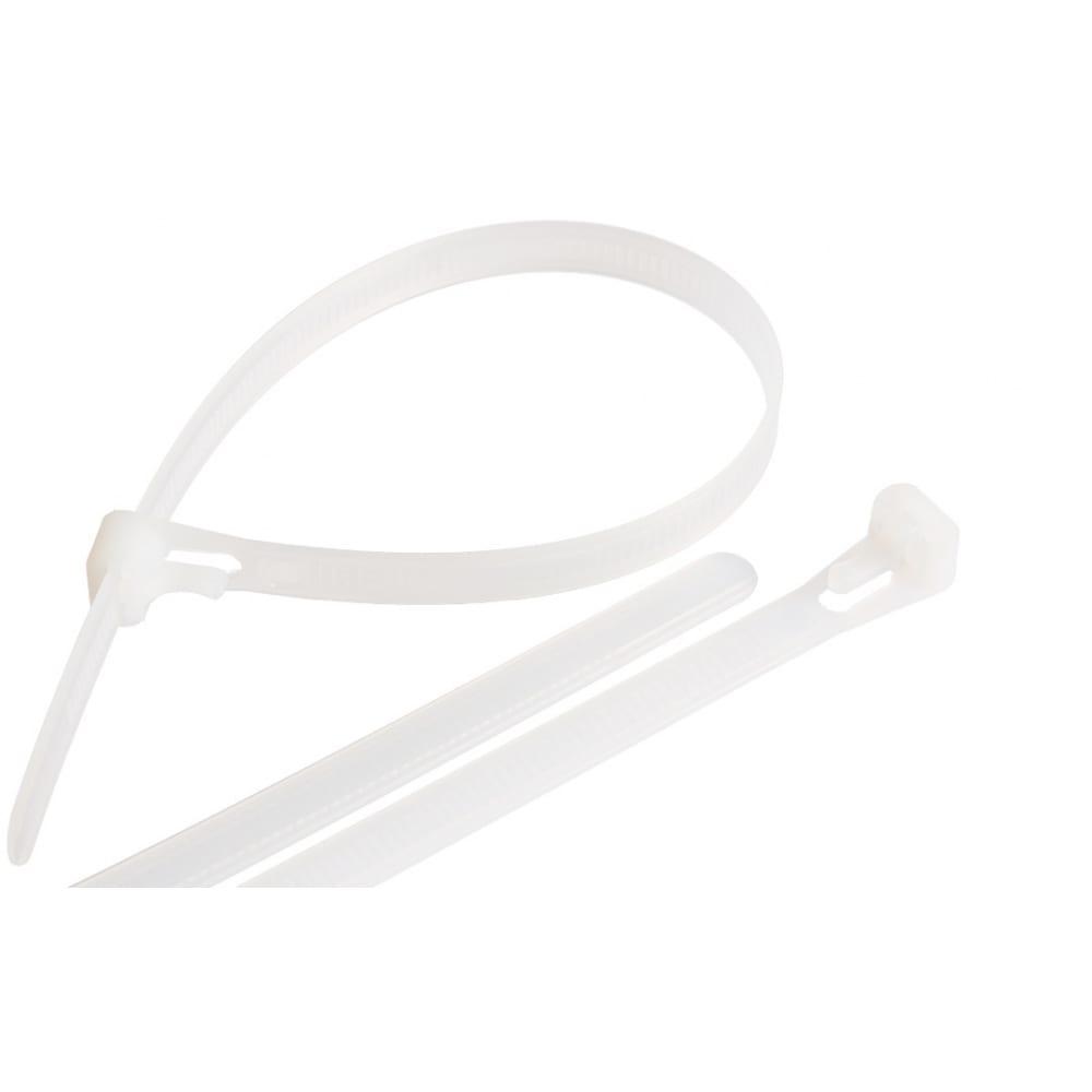 Купить Нейлоновая открывающаяся стяжка nikomax 400х8 мм, белая, уп-ка 100шт. nmc-ctn400-80-rl-wt-100