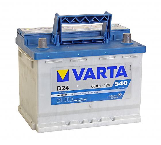 Аккумуляторная батарея VARTA 6СТ60з BD 242х175х190 560 408 054 313 2 D24 в Краснодаре - купить, цены, отзывы, характеристики, фото, инструкция