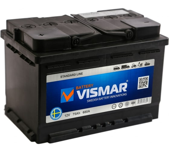 АКБ VISMAR ST 6СТ-75 N L-1 680A 276/175/190 4660003793895 в Сочи - цены, отзывы, доставка, гарантия, скидки