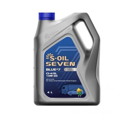 Моторное масло BLUE#7 CI-4/SL 10W-40 4 л S-OIL SEVEN E107878 - цена, отзывы, характеристики, фото - купить в Москве и РФ