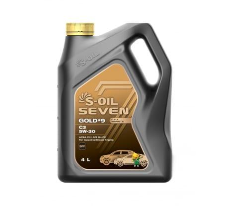 Моторное масло GOLD#9 C3 5W-30 4 л S-OIL SEVEN E107763 - цена, отзывы, характеристики, фото - купить в Москве и РФ