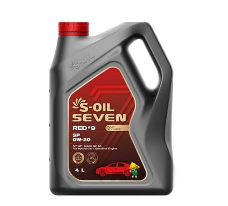 Моторное масло RED#9 SP 0W-20 4 л S-OIL SEVEN E108280 - цена, отзывы, характеристики, фото - купить в Москве и РФ