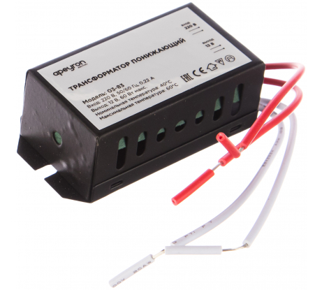 Понижающий трансформатор APEYRON 12В, 20-60Вт, 7335х25мм, металл, черный 03-83 в Липецке - цены, отзывы, доставка, гарантия, скидки