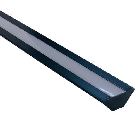 Накладной алюминиевый угловой профиль APEYRON для светодиодной ленты, анодированный, черный 08-07-Ч - цена, отзывы, характеристики, фото - купить в Москве и РФ