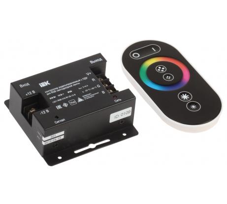 Контроллер с ПДУ IEK, радио, черный, RGB 3 канала, 12В, 6А, 216Вт LSC1-RGB-216-RF-20-12-B - цена, отзывы, характеристики, фото - купить в Москве и РФ