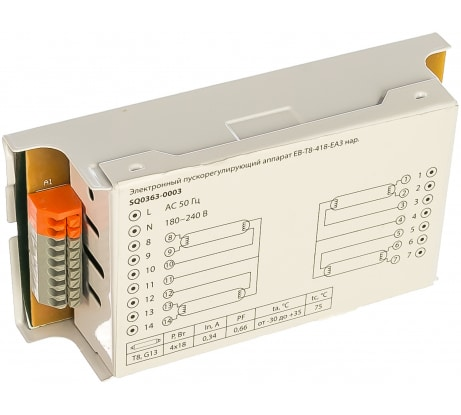 Электронный пускорегулирующий аппарат | дроссель TDM EB-T8-418-EA3 SQ0363-0003 - цена, отзывы, характеристики, 1 видео, фото - купить в Москве и РФ