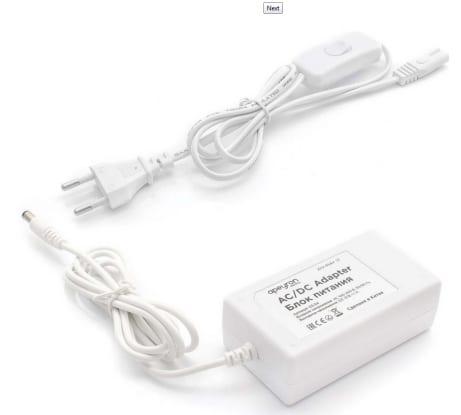 Блок питания (адаптер) Apeyron 12В, 12Вт, IP44, 1A, разъем 2,5х5,5мм, пластик 03-54 в Петрозаводске купить по низкой цене: отзывы, характеристики, фото, инструкция