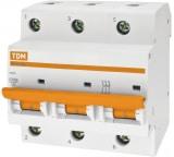 Автоматический выключатель TDM ВА47-100 3Р 100А 10кА D SQ0207-0033