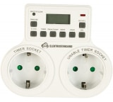 Электронная розетка-таймер Elektrostandard TMH-E-5 16A x2 IP20 /Белый a026138