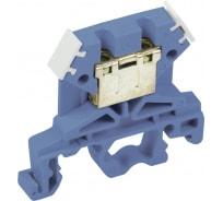 Клеммная колодка ЗНИ-4, 4 мм2, синий IEK YZN10-004-K07