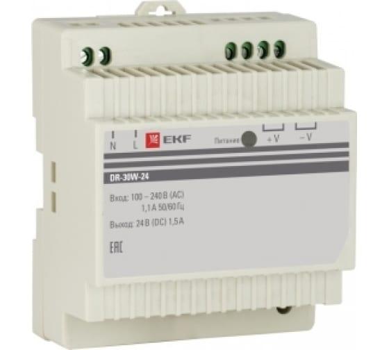 Блок питания EKF DR-30W-24, 24В, PROxima SQ dr-30w-24 1