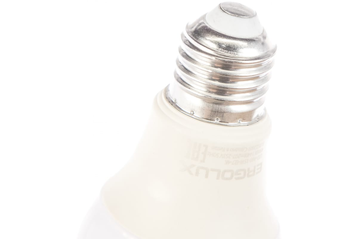 Электрическая светодиодная лампа Ergolux LED-A60-15W-E27-4K ЛОН 15Вт Е27 4500К 13638