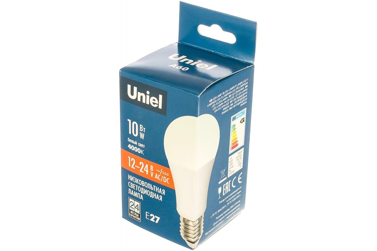Светодиодная лампа Uniel LED-A60-10W/NW/E27/FR/12-24V PLO55WH UL-00002381