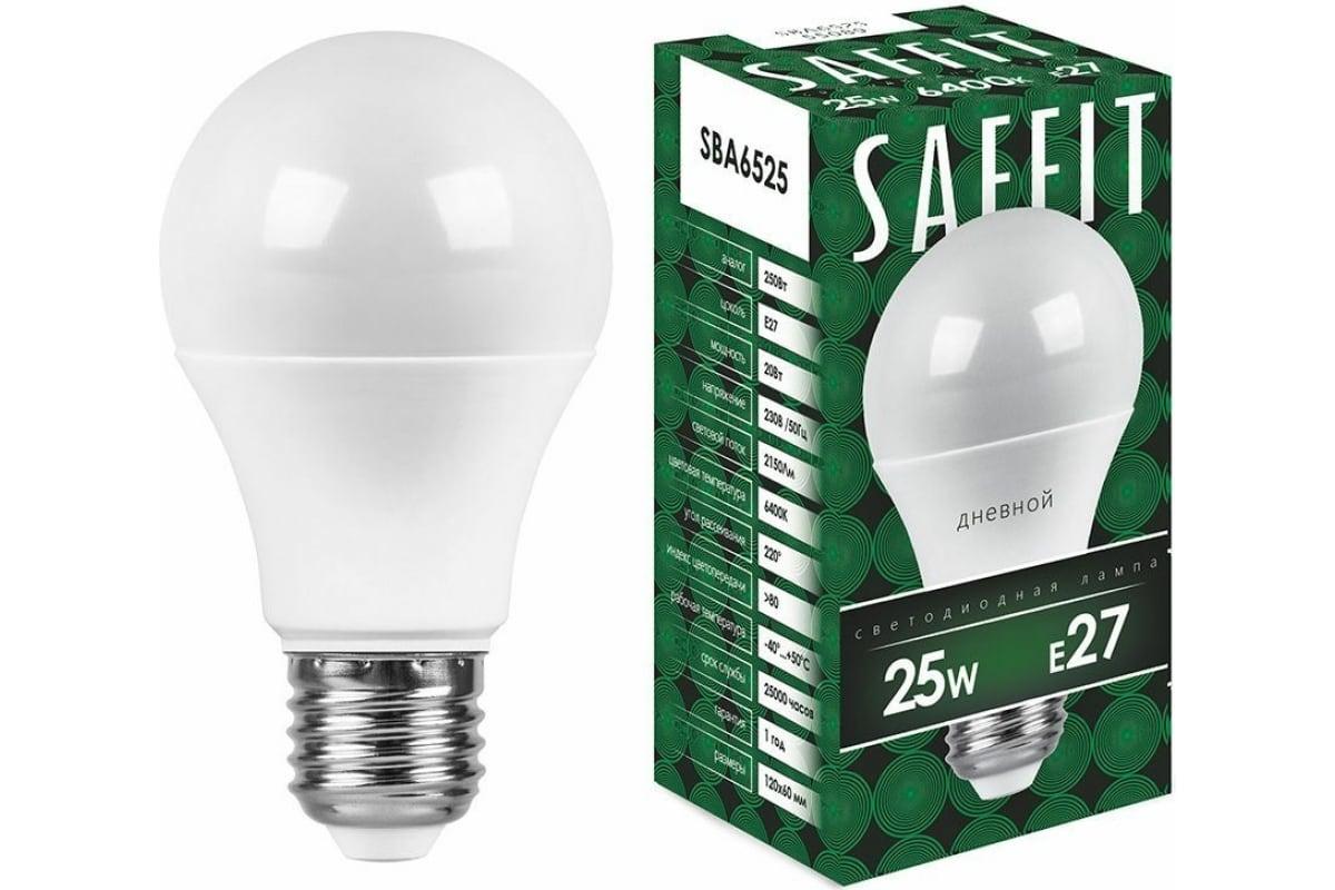 Светодиодная лампа SAFFIT 25W 230V E27 6400K SBA6525 55089