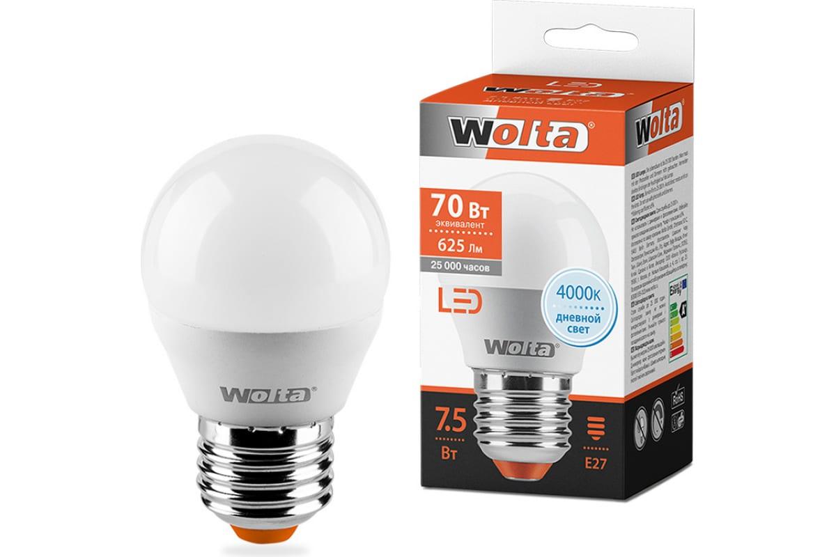 Лампа WOLTA LED 25S45GL7.5E27