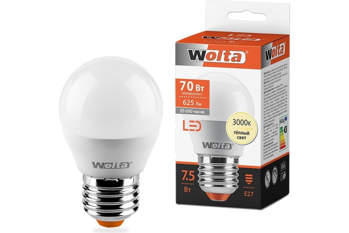 Лампа WOLTA LED 25W45GL7.5E27