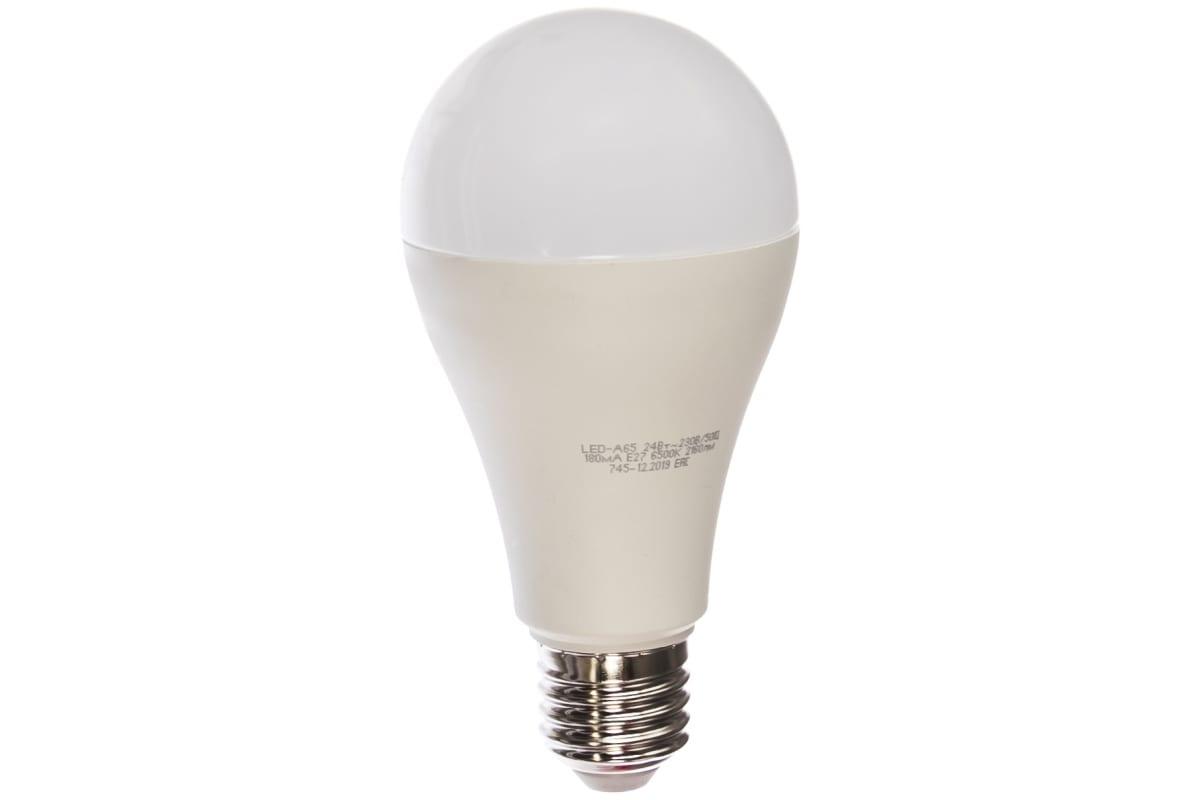 Лампа ASD сд LED-A65-std 24Вт 230В Е27 6500К 2160Лм 4690612014289
