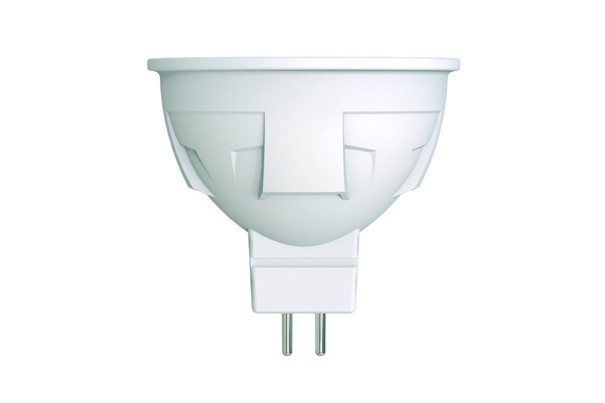 Диммируемая светодиодная лампа Uniel Форма JCDR Серия ЯРКАЯ LED-JCDR 6W/WW/GU5.3/FR/DIM PLP01WH UL-00003991