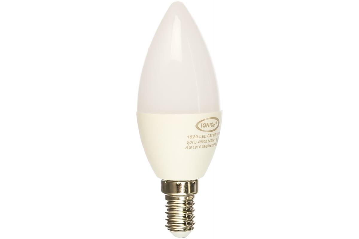 Светодиодная лампа IONICH декоративное освещение ILED-SMD2835-C37-6-540-230-4-E14 0160 1529