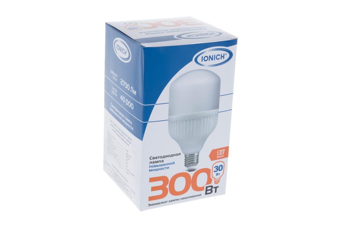 Светодиодная лампа IONICH высокой мощности ILED-SMD2835-Т100-30-2700-220-4-E27 1297 1505