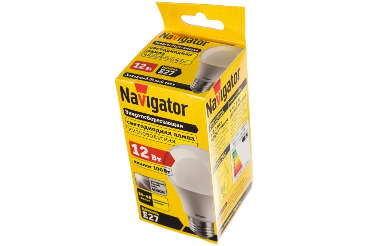 Светодиодная лампа NAVIGATOR 61 478 NLL-A60-12-24/48-4K-E27 61478 481058